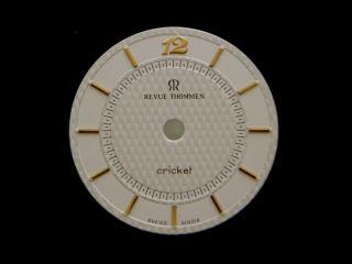 Original REVUE THOMMEN Cricket Watch Dial Mens New