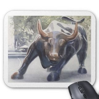 Wall Street Bull by Paul Jackson Mouse Pad