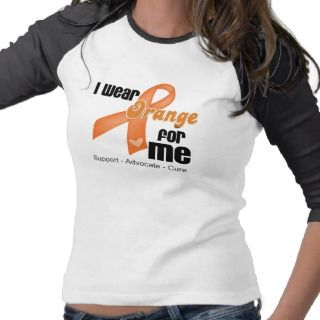 Wear an Orange Ribbon For Me   Awareness T shirts