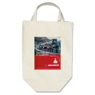 Baldwin Locomotive Works S 2 Steam Turbine Tote Bags