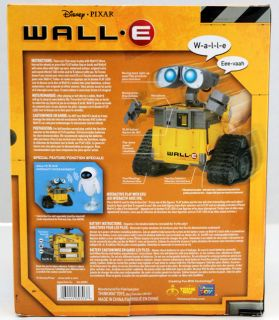 WALLE ROBOT DISNEY PIXAR INTERACTIVE TALKING W/LIGHTS & SOUNDS MINT IN