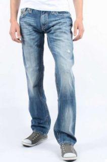 Rock Revival     Herren John Straight Leg Jeans in Farbe T25