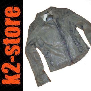 CASEY   Damen Lederjacke   Jacke   Grau   Gr. M   UVP 199€