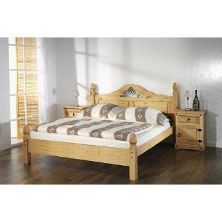 mexiko bett 180x200 rollrost lattenrost pinie massiv. Black Bedroom Furniture Sets. Home Design Ideas