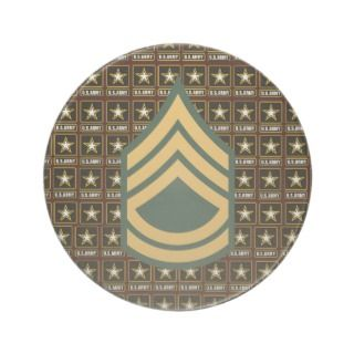 Army Sergeant First Class Coaster