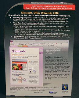 MS Office Professional University 2010 Vollversion Box f. Studenten