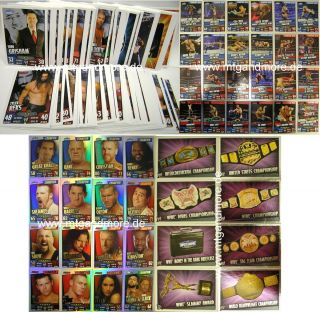 Slam Attax Rumble   Komplettset alle 223 Karten (Champion+Signature