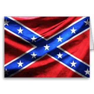 Rippled Confederate Civil War Flag Cards