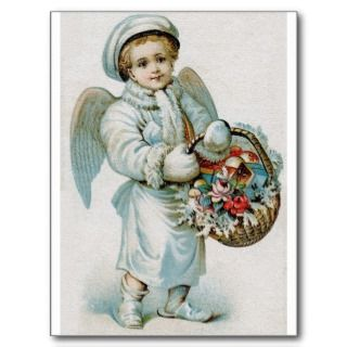 Vintage Angel Boy Postcard