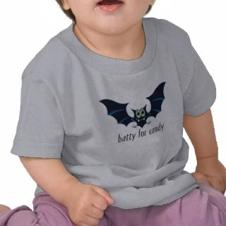 Batty For Candy Toddler Halloween Shirt
