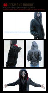 Assassins Creed desmond miles Black cosplay costume hoodie