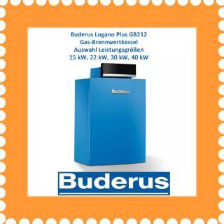 Buderus Logano Plus GB212 Gas Brennwert Kessel Boden Gas Heizung