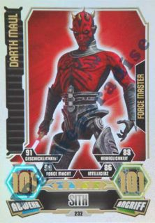 232   DARTH MAUL  Sith   Force Meister   Force Attax Serie 3 ** NEU