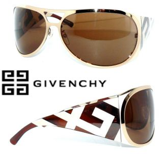 GIVENCHY SONNENBRILLE SVG219 Glossy GOLD LUXUS ORIGINAL LOGO GLOSSY