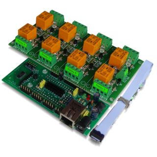 Ethernet Relay controller module   WEB server IP and Serial RS232