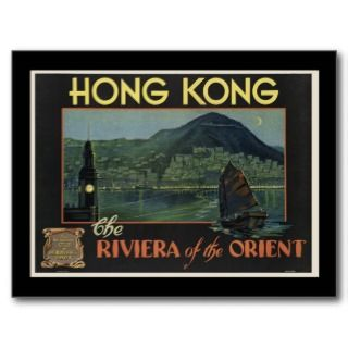 Hong Kong The Riviera of the orient Postcards