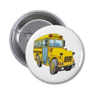 School Bus Cartoon Pin