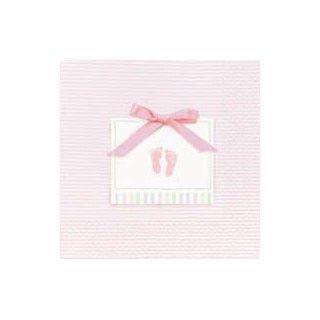 kleine Servietten BABY SOFT rosa 16er Pack, Tischdeko Taufe