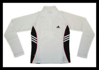 Adidas Damen langarm Laufshirt Running Shirt weiß M 36