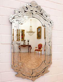 VENEZIANISCHER SPIEGEL MURANO STIL GLASSPIEGEL ca 120cm VENEZIA
