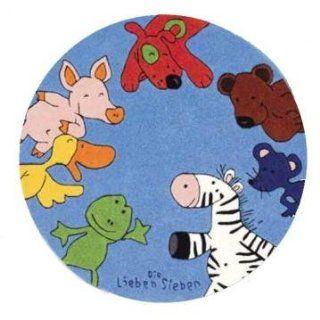 Die Lieben Sieben Kinderteppich blau 130 cm rund Küche