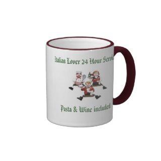 Italian Lover 24 Hour Service Pasta & Wine include Coffee Mug