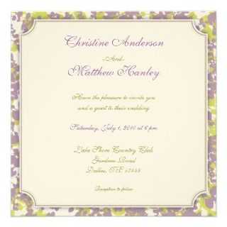 Four Seasons Wedding Invitation (summer)