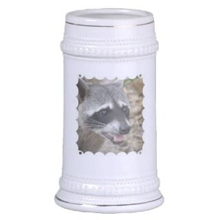 Raccoon Face Beer Stein Mugs