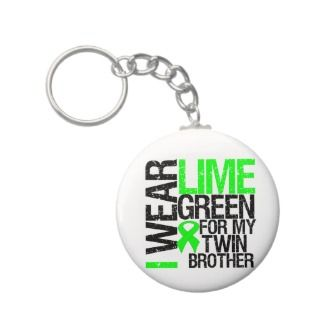 Wear Lime Green For My Twin Brother Lymphoma Key Chain