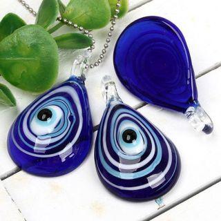 Stück Blau Auge Lampwork Glas Perle Anhänger Pendant Schmuck,100%