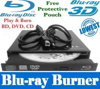 Panasonic External 2 0 USB Blu Ray Writer Player Burner DVD RW Drive