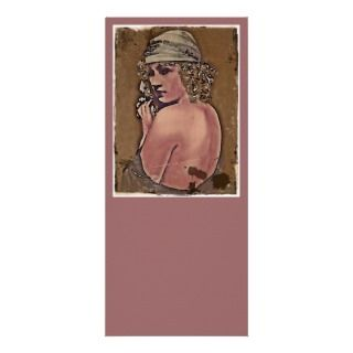 Glamorous Marion in Headscarf Full Color Rack Card