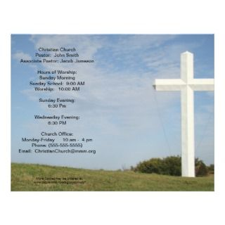 Church Bulletins, White cross, customize Flyer
