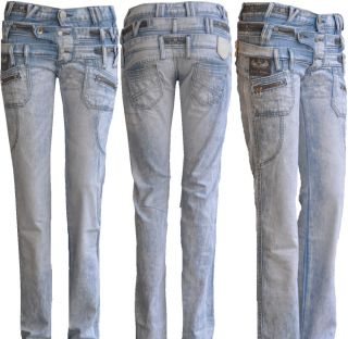 Cipo & Baxx Sexy Damen Jeans Hose 3 Bund Jeans CBW 244