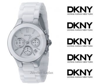 CERAMIC Weiß Chonograph NY4912 Chrono Damen Uhr NEU UVP 245€
