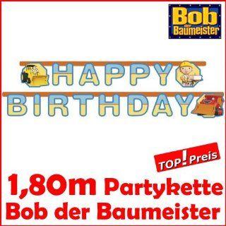 Partykette Bob the builder bob der Baumeister Happy Birthday Tür