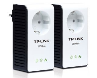 Link Powerline Adapter KIT TL PA 251 200MBit 1 Paar mit Frontsteckdose