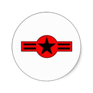 Roundel USA Air Force Military Plane Aircraft Stickers
