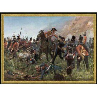 Bild mit Rahmen R Knötel, Schlacht v.Waterloo 1815 / R. Knötel