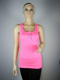 Damen Träger Top Tanktop Shirt Oberteil Tank Top Longtop Longshirt