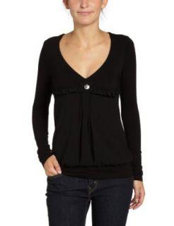 Fornarina Damen Shirt/ Top, VALENCE BLACK POLYESTER TOP BIRT164JD2700