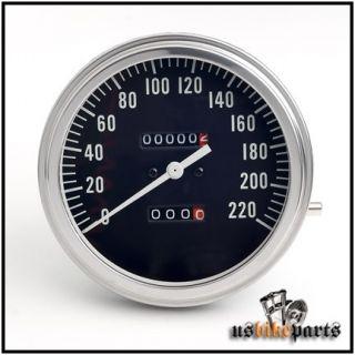 Tacho km h Police schwarz 2 1 Fat Bob Harley Davidson Tachometer