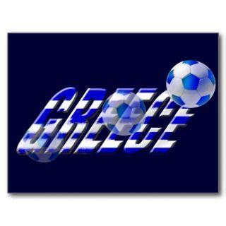 Greece soccer flag of Greece football logo Post Cards