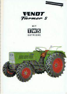 Fendt Farmer S, orig. techn. Broschüre