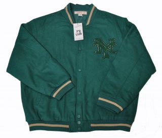 New York NY Green Varsity Baseball Jacket (All sizes)