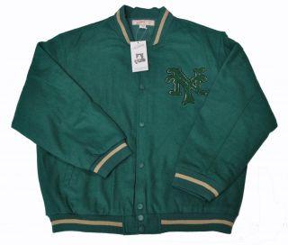 New York NY Green Varsity Baseball Jacket (All sizes)