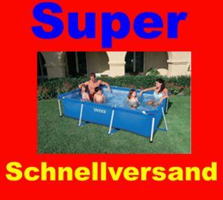 Intex Rechteck Pool Becken 260x160x65cm Schwimmbecken