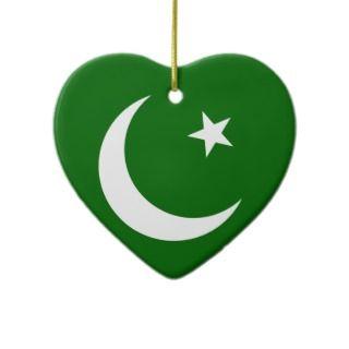 Pakistan Muslim League, Colombia flag Christmas Tree Ornaments