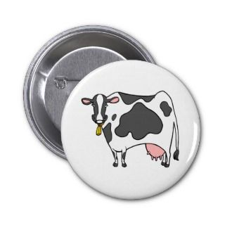 Dairy Cow Cartoon Pin