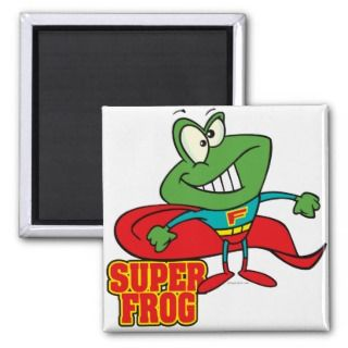 cute super frog superhero cartoon fridge magnets